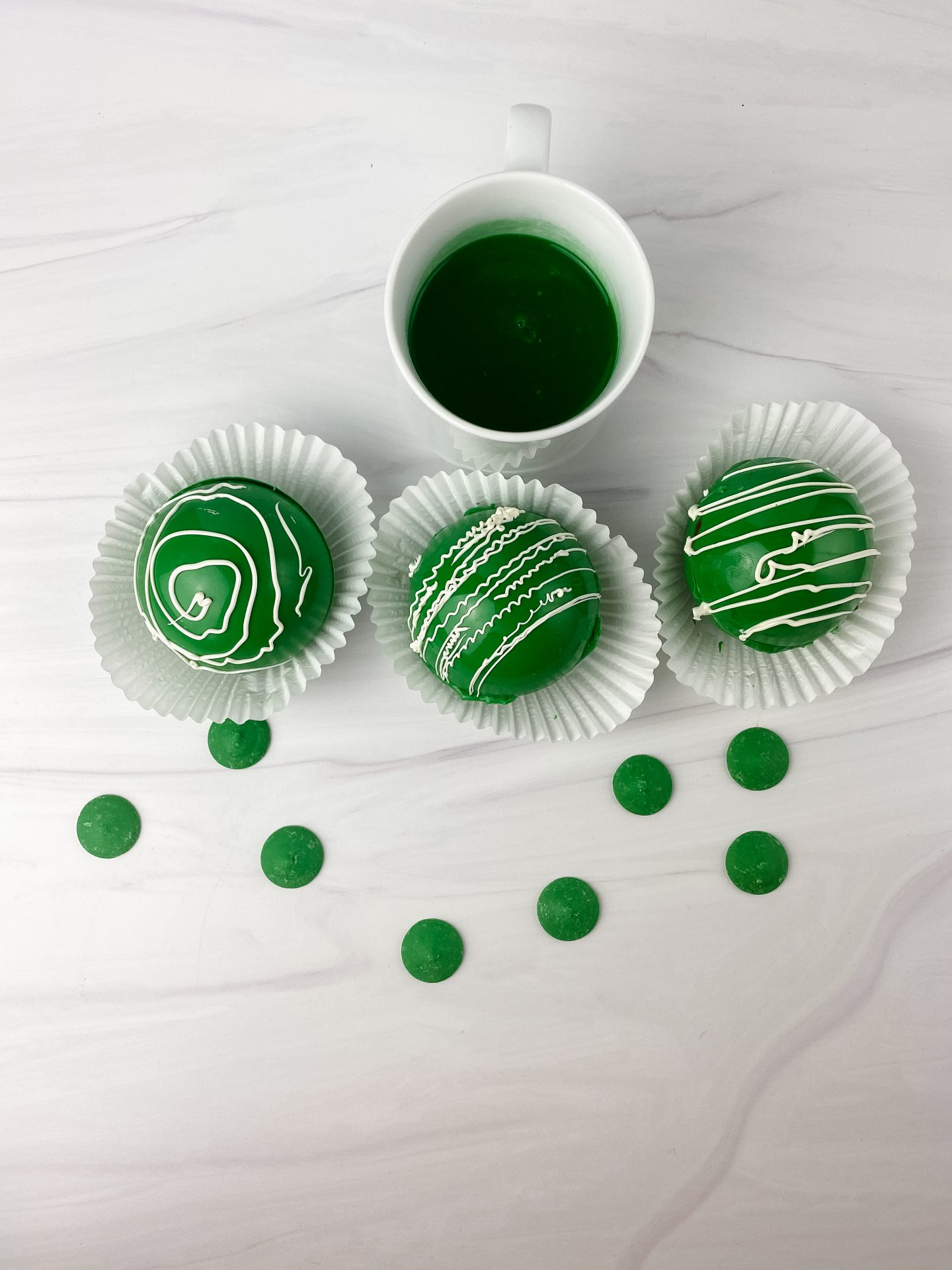 st. Patrick's day hot chocolate bombs